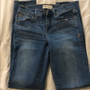 Madewell Skinny Jeans Cut Off Hem